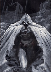 Moon Knight in the shadows
