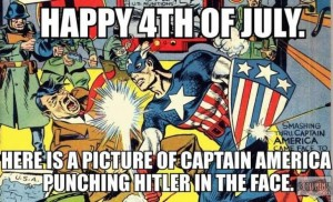 July Fourth Captain America